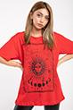 Baskılı T-shirt / KIRMIZI