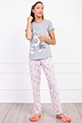 Bugs Bunny Baskılı Terlikli Pijama Takımı / GRIPUDRA
