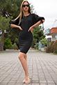 Kaskorse Kol Detay Elbise / SIYAH