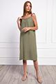 Ip Askılı Boncuklu Elbise / HAKI