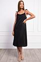 Ip Askılı Boncuklu Elbise / SIYAH